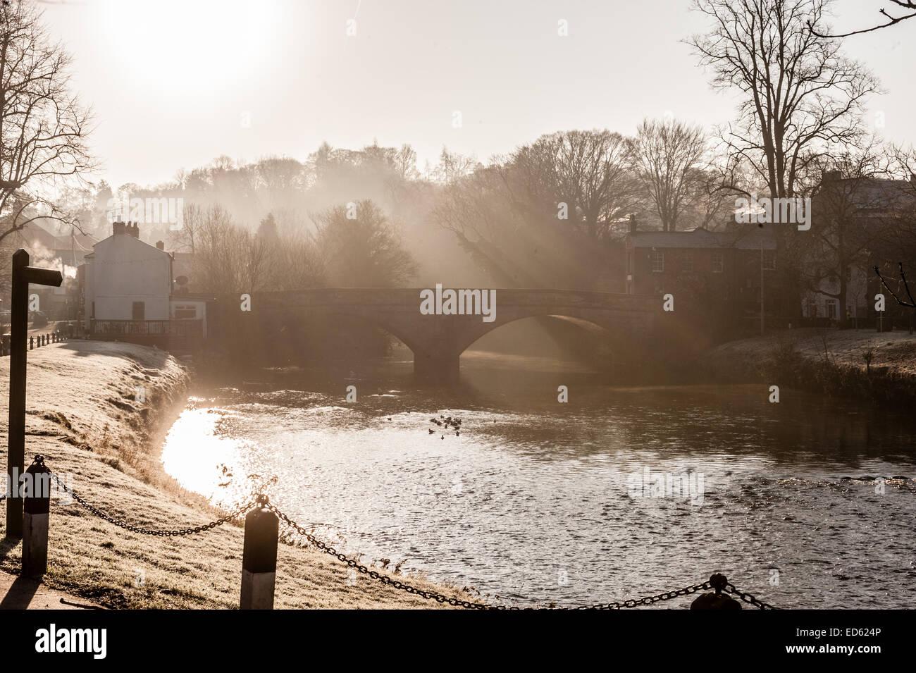River Eden Bridge Appleby Cumbria - Stock Image