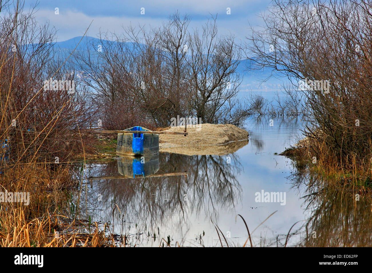 Lake Doirani, Kilkis prefecture, Macedonia, Greece - Stock Image