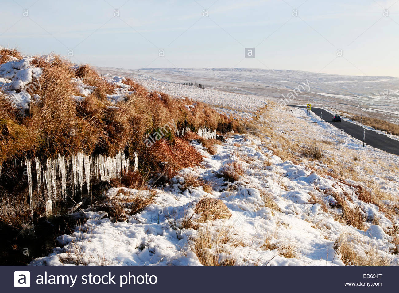Middleton-in-Teesdale, UK. 29th December, 2014. UK Weather: After the lowest temperatures of 2014 for England, Wales Stock Photo