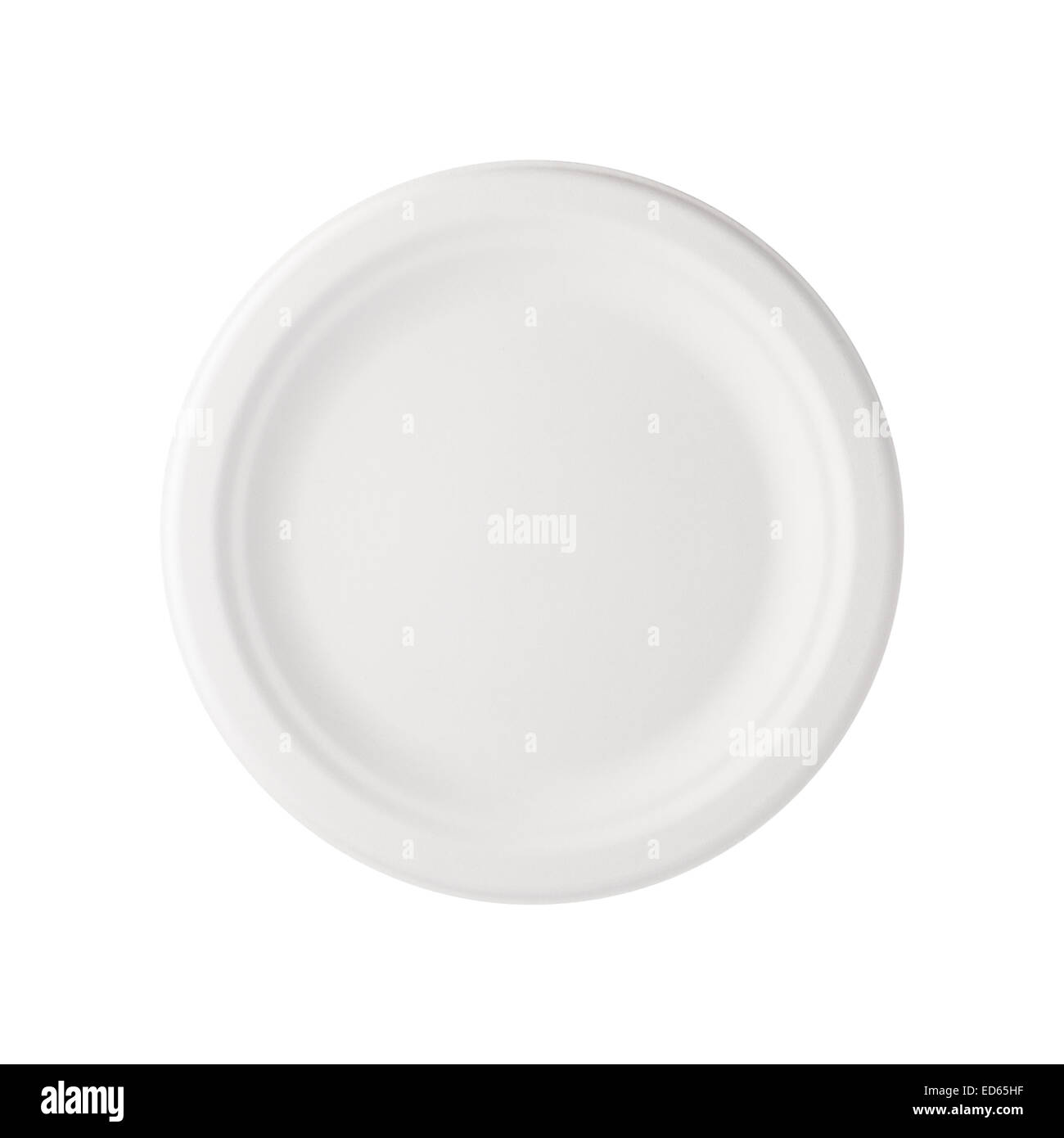 Paper Plate isolated - Stock Image