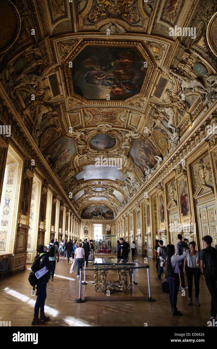Galerie d'Apollon Louvre - Stock Image