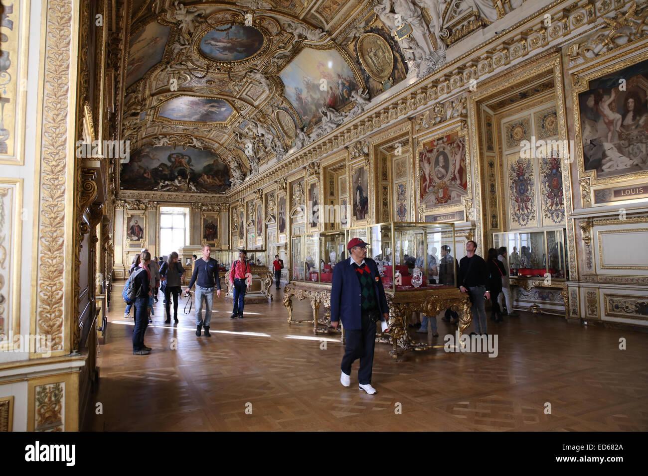 Louvre Galerie d'Apollon - Stock Image