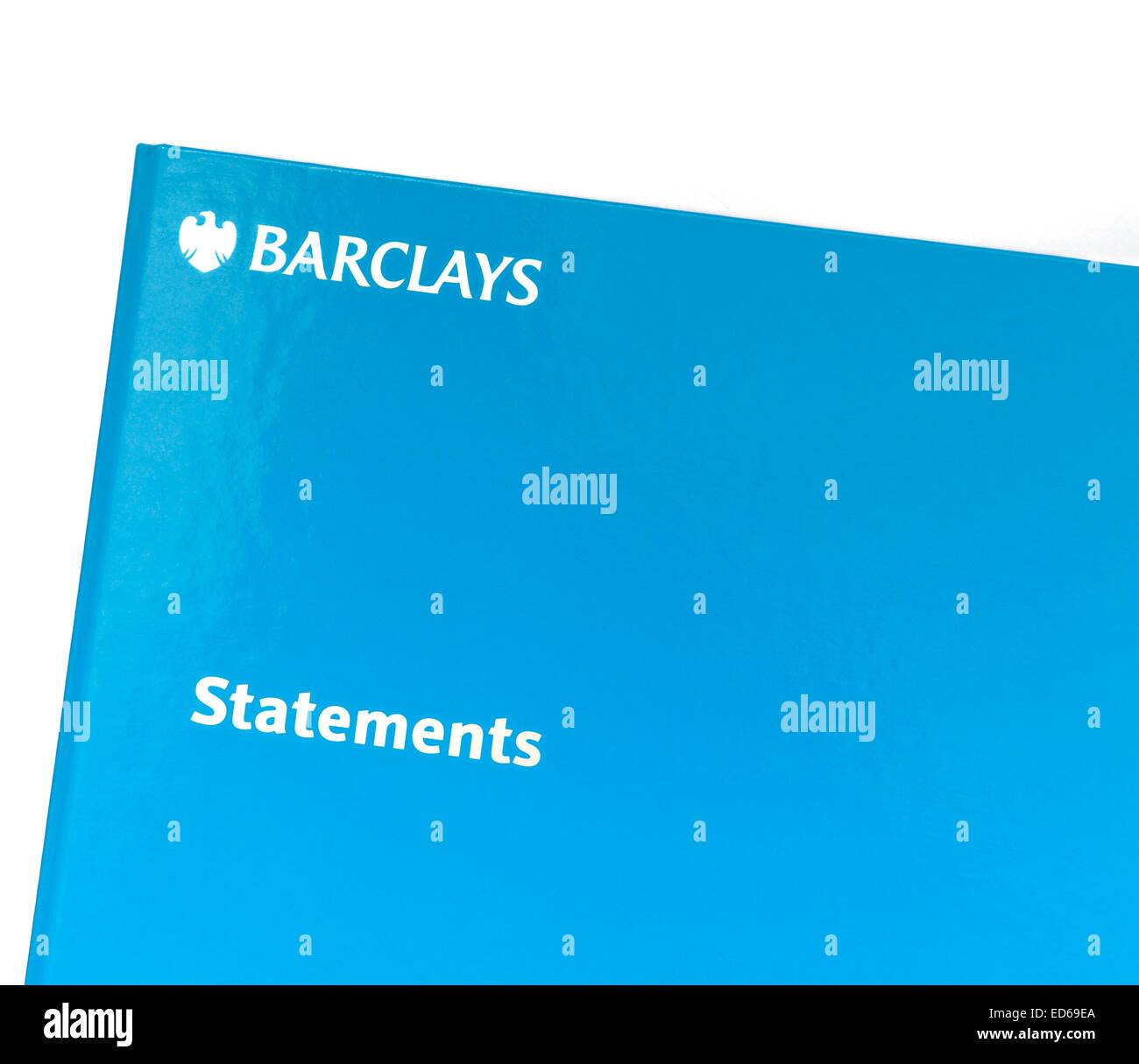 A Barclays bank statement folder - Stock Image
