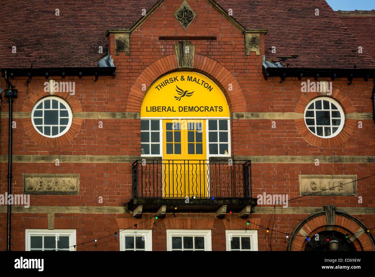Liberal Democrats Club building, Pickering, North Yorkshire. - Stock Image