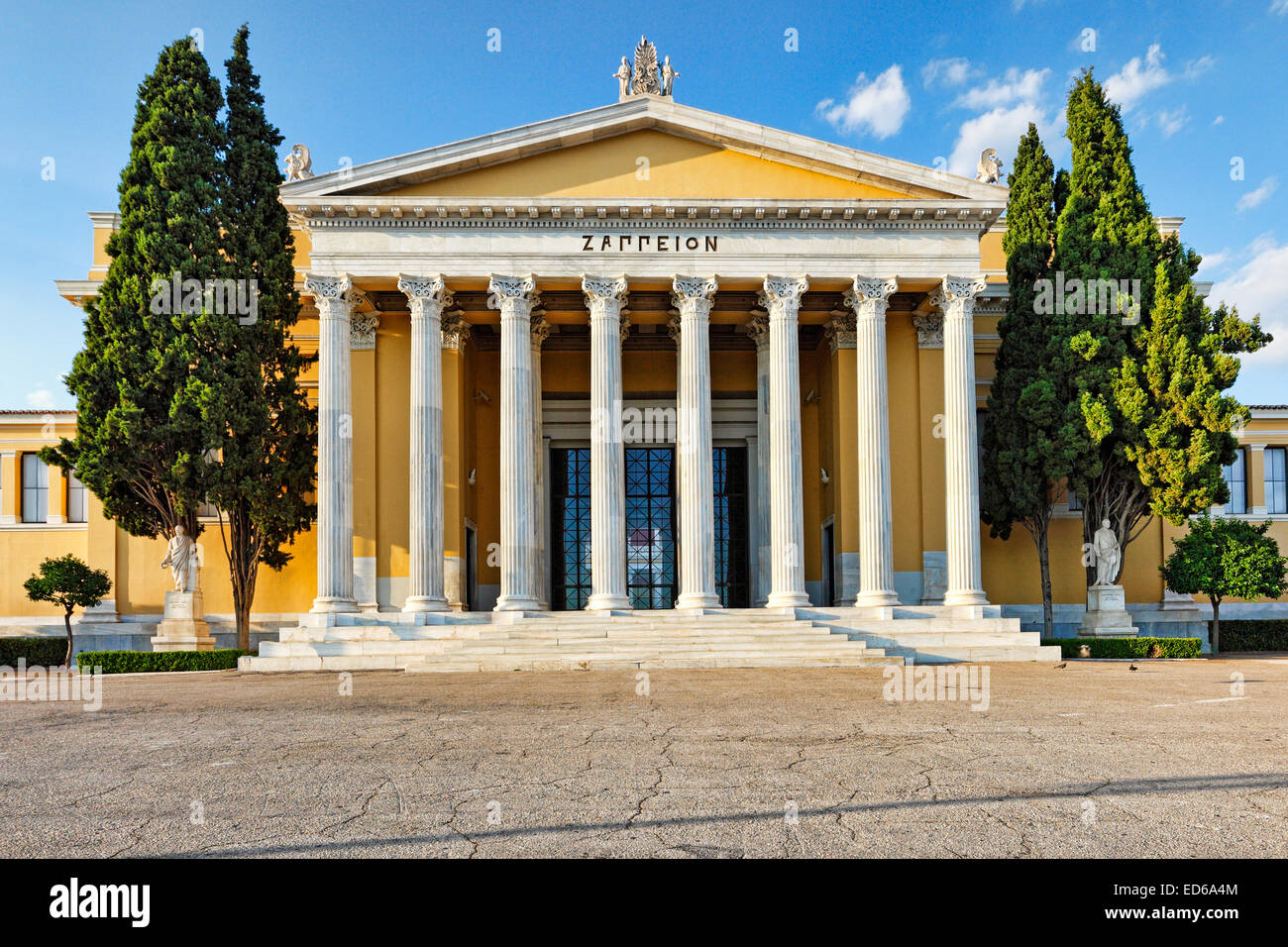 The Zappeion is a building in the National Gardens of Athens, Greece - Stock Image