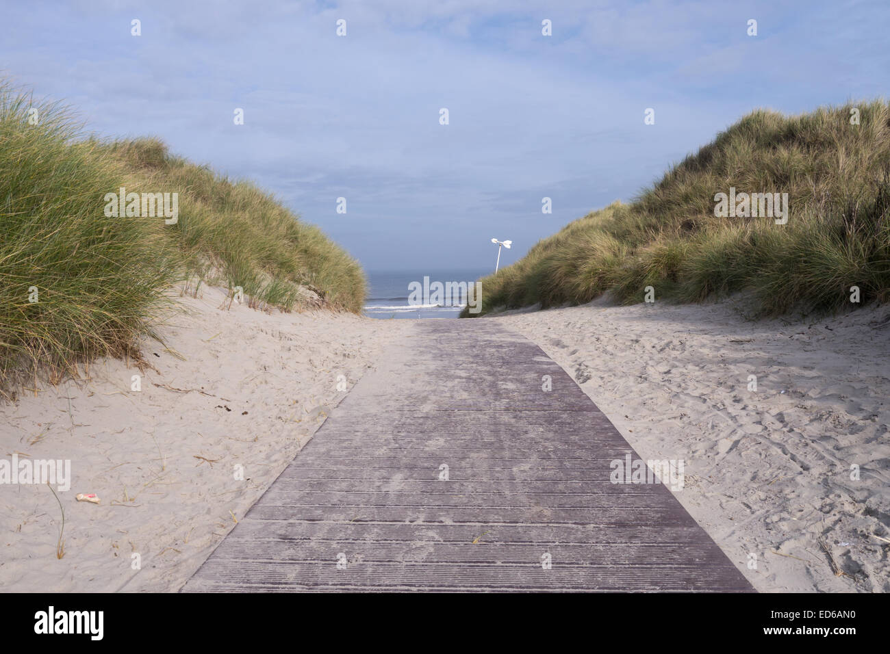 way to the sea (norderney, north sea) Stock Photo
