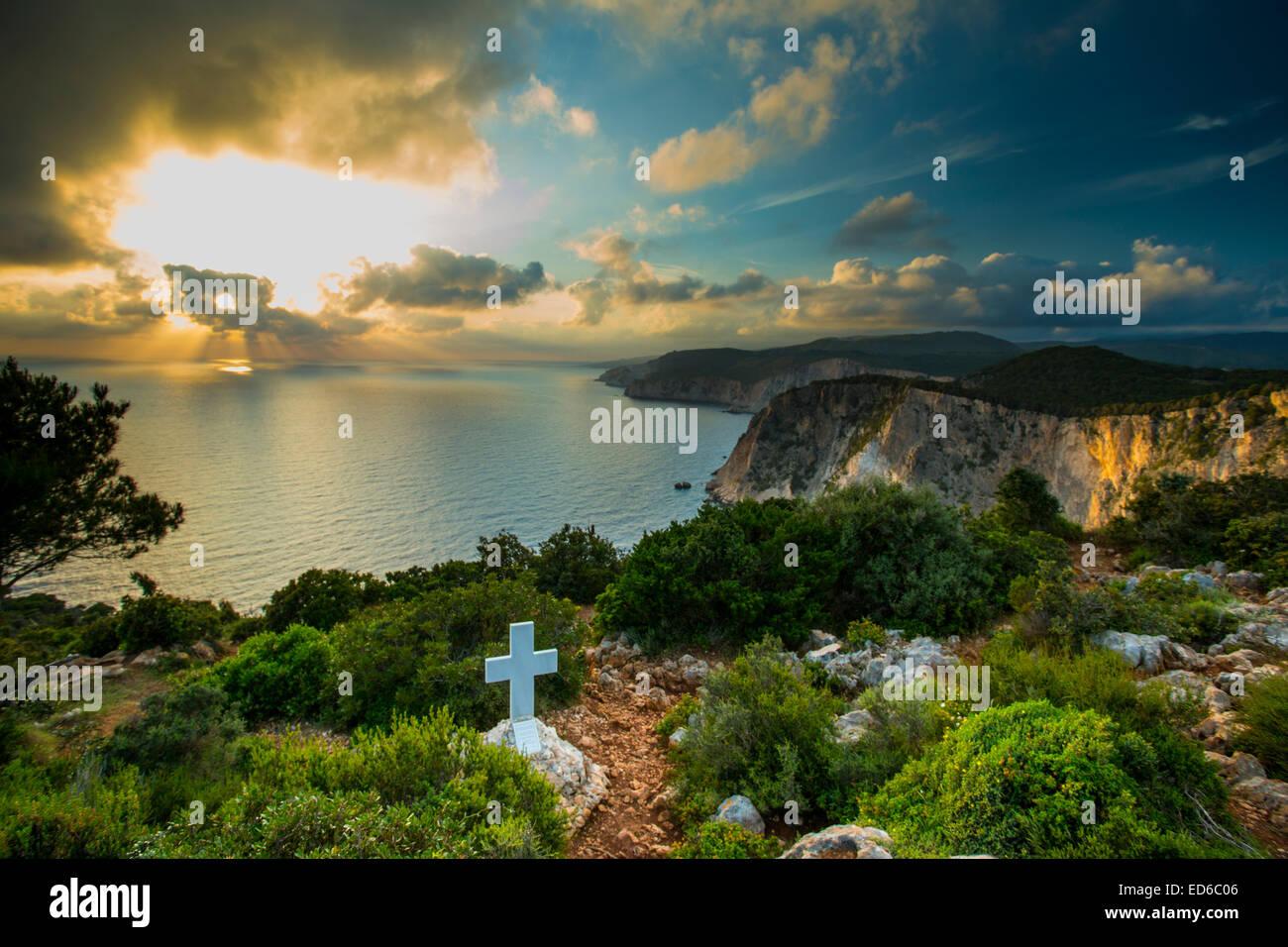 Zakynthos coast, Greece - Stock Image