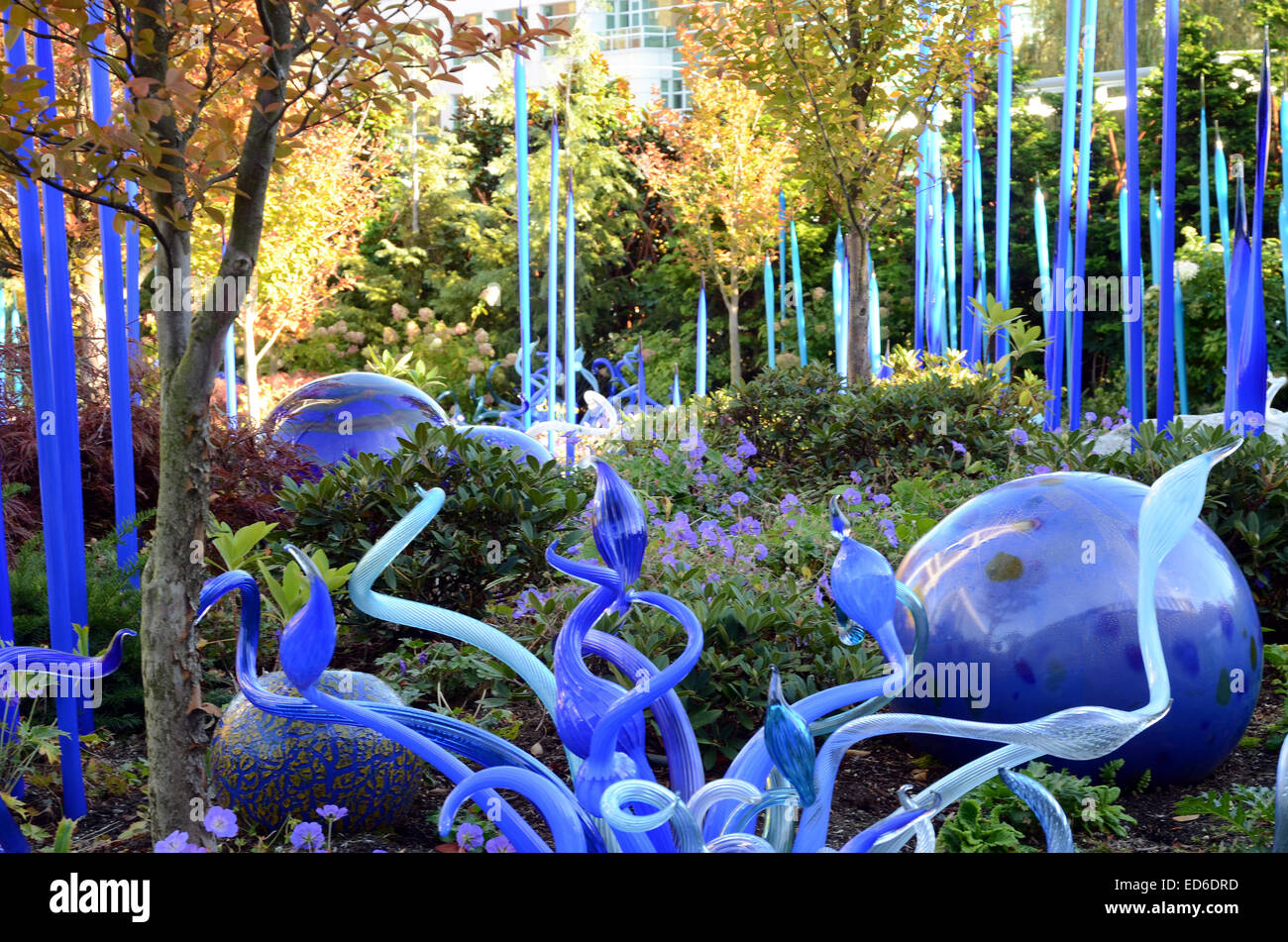 dale chihuly glass sculpture chihuly garden and glass seattle stock image - Chihuly Garden And Glass Seattle