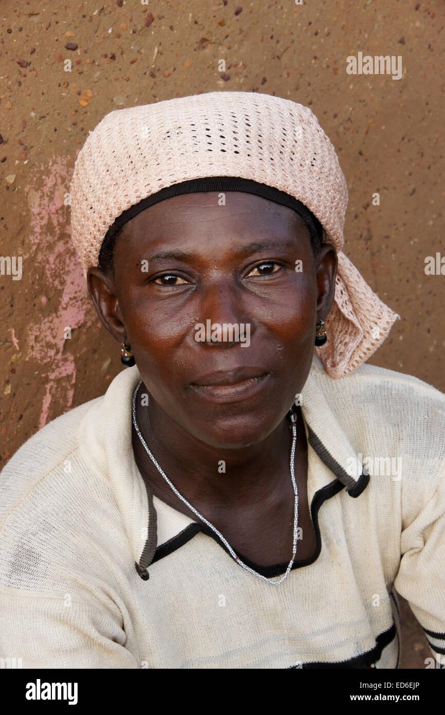 Woman of Gambaga, Ghana - Stock Image