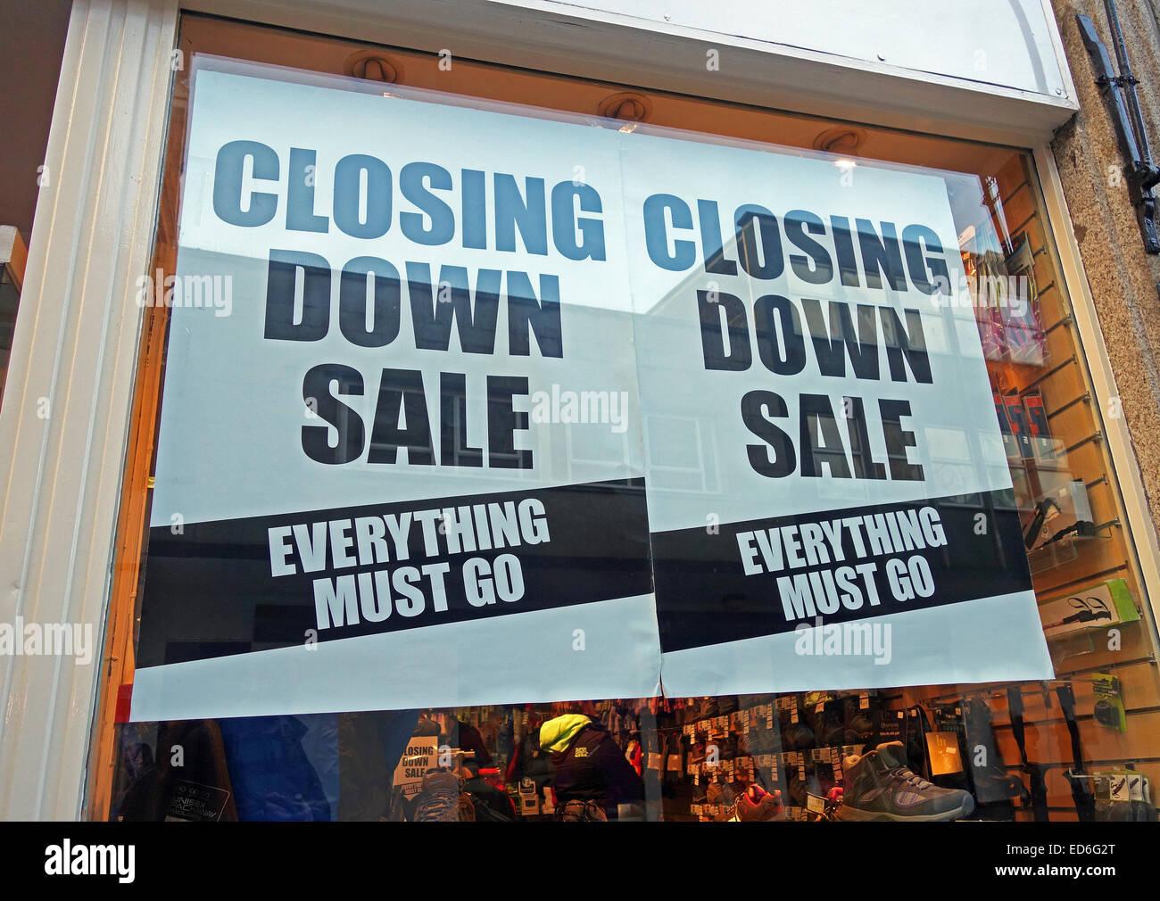 shop closing down sale - Stock Image
