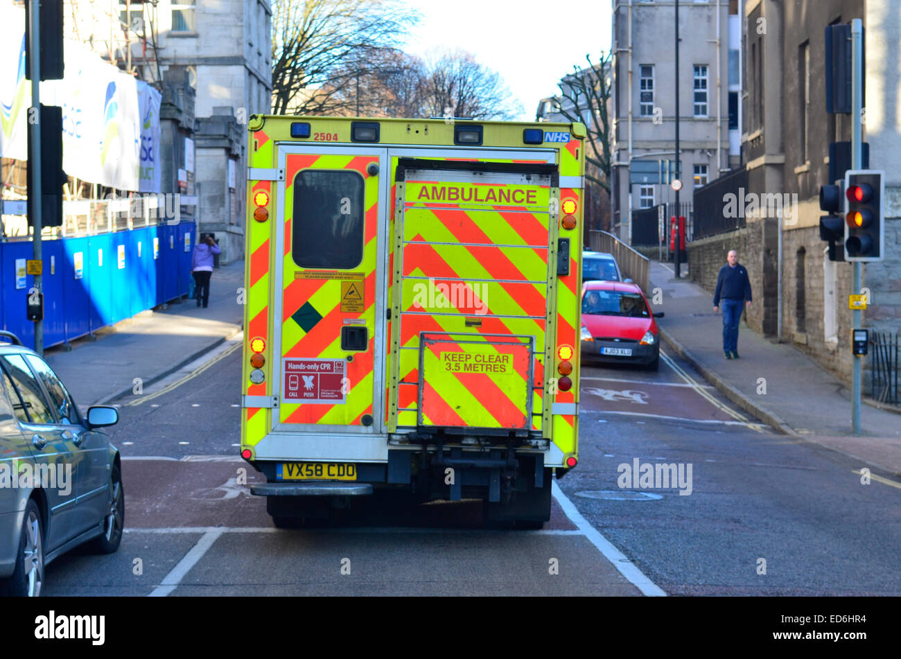 Southwest ambulance services over worked.  Services to call an Emergency Operation Service because they could not - Stock Image
