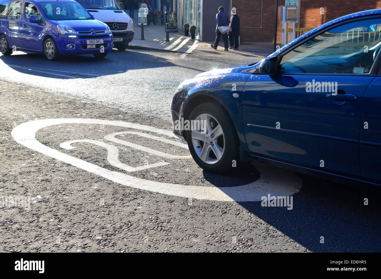 UK.Most of Bristol covered by a 20 MPH Speed Limit.Location shown Whiteladies Road. Robert Timoney/Alamy Stock Photo