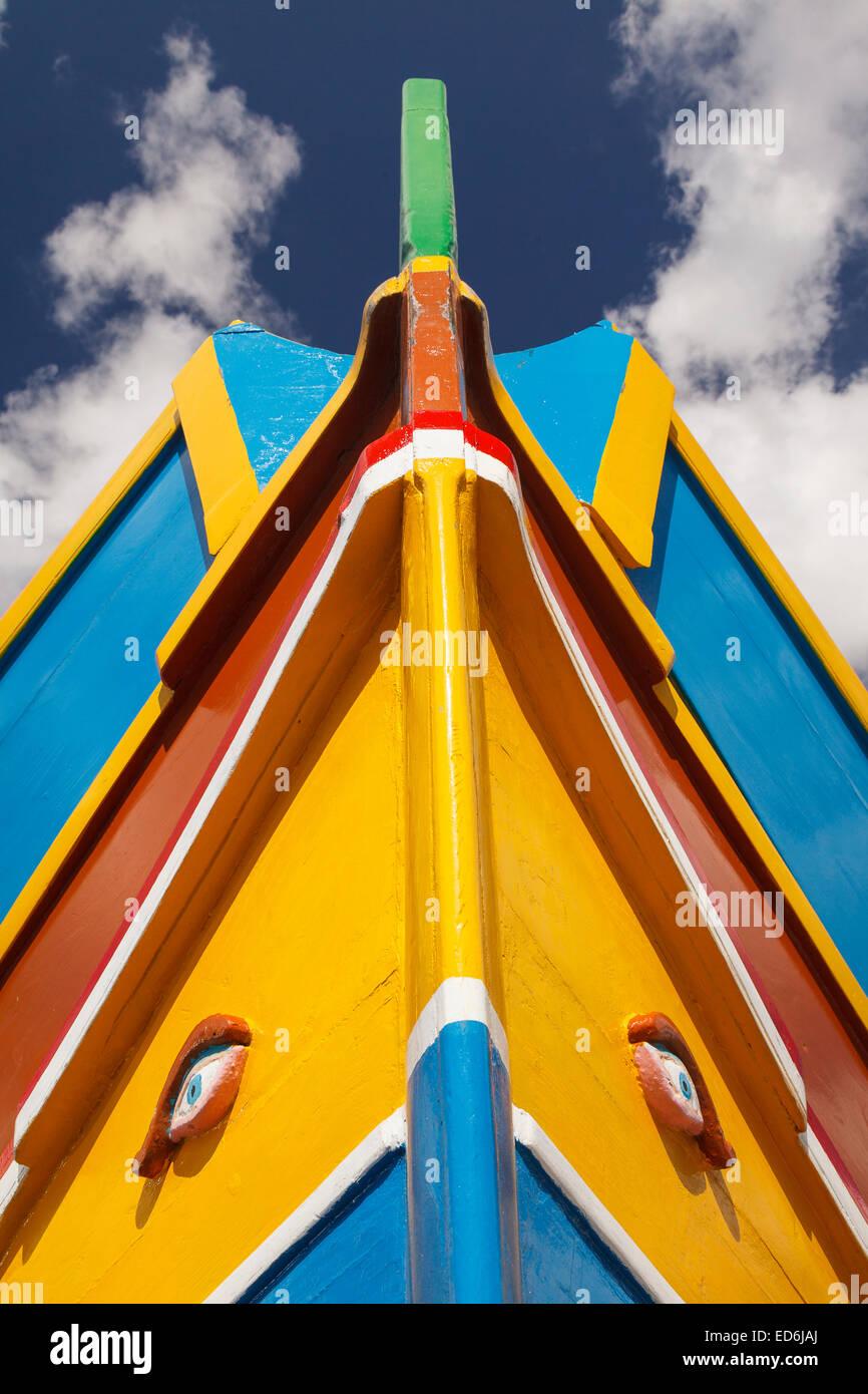 Boat. Marsaxlokk. Valletta city. Malta Isle. Republic of Malta. Europe - Stock Image