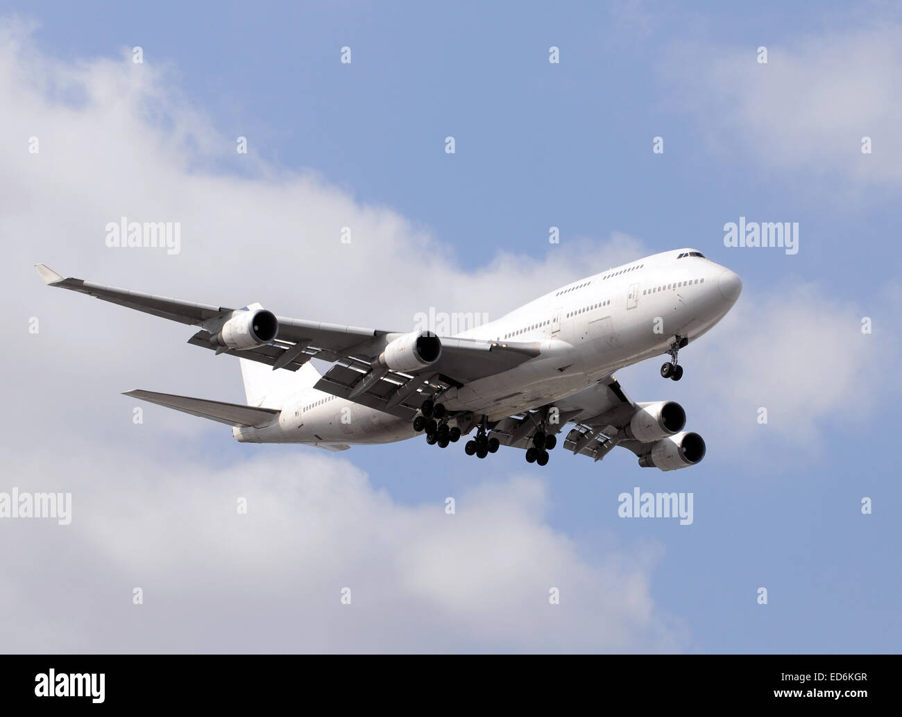 Heavy widebody Boeing 747 passenger jet for long distance travel - Stock Image