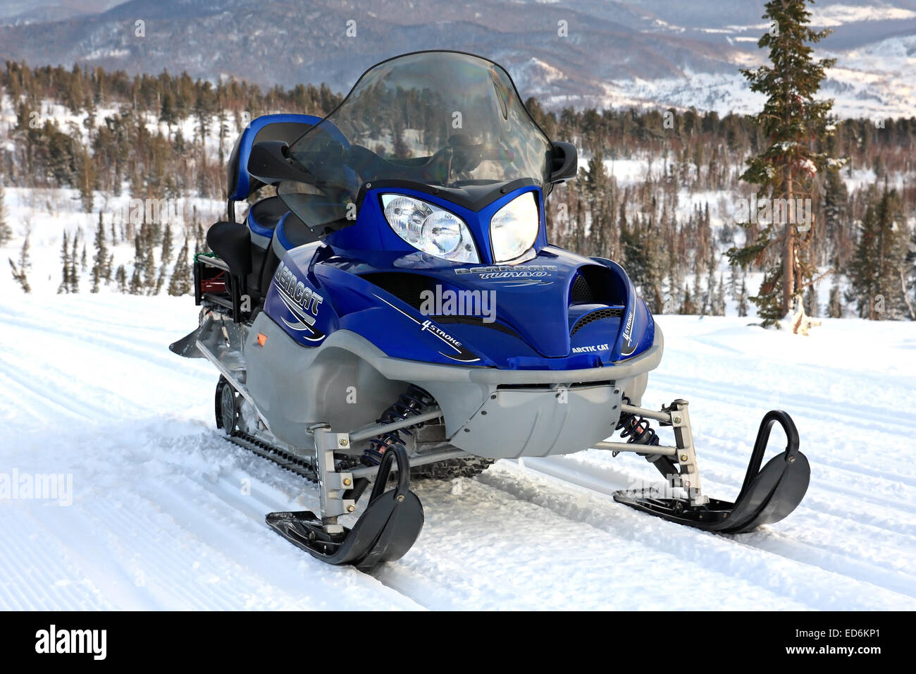 Snowmobile. - Stock Image