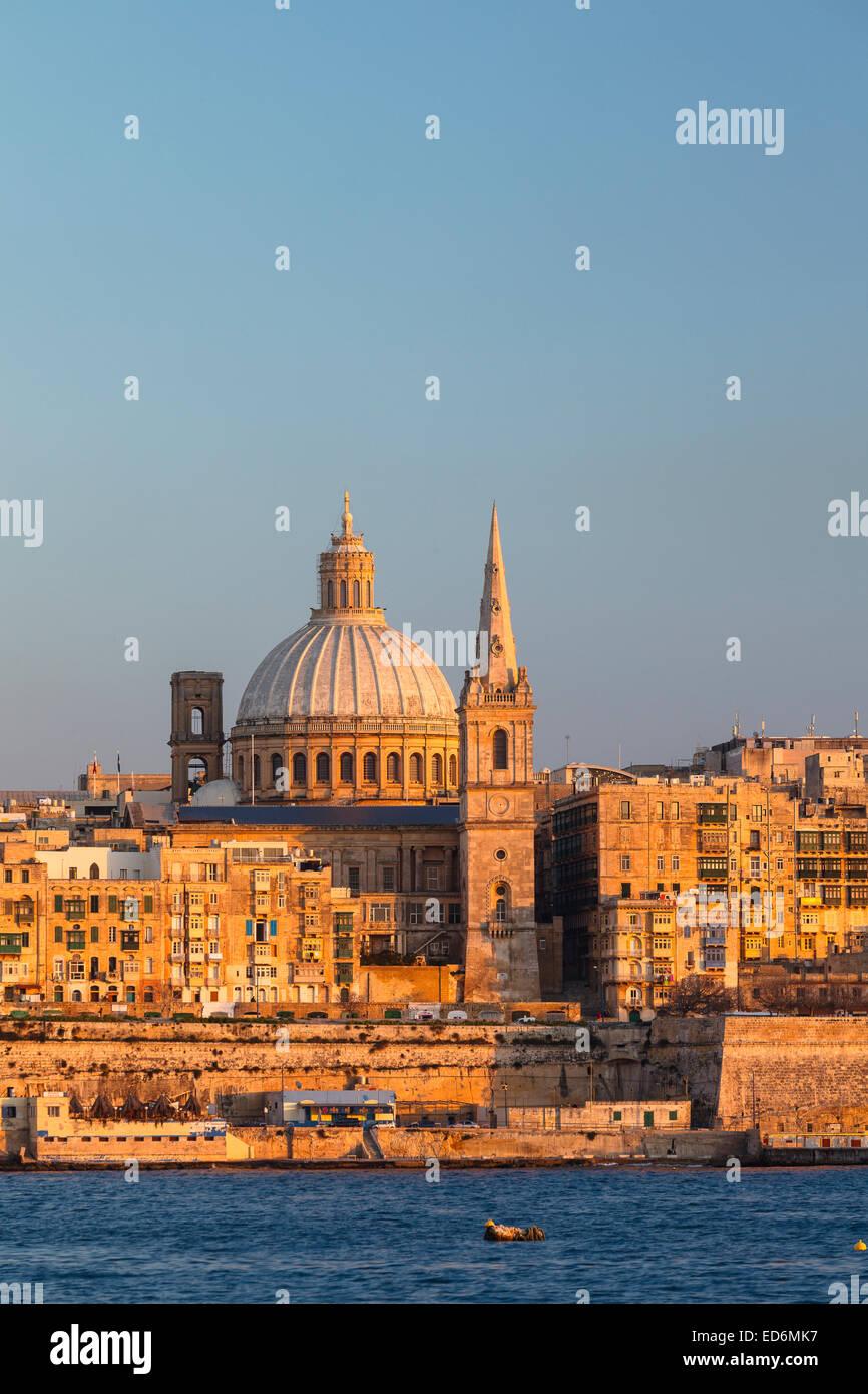Panoramic view. Valletta city. Malta Isle. Republic of Malta. Europe - Stock Image