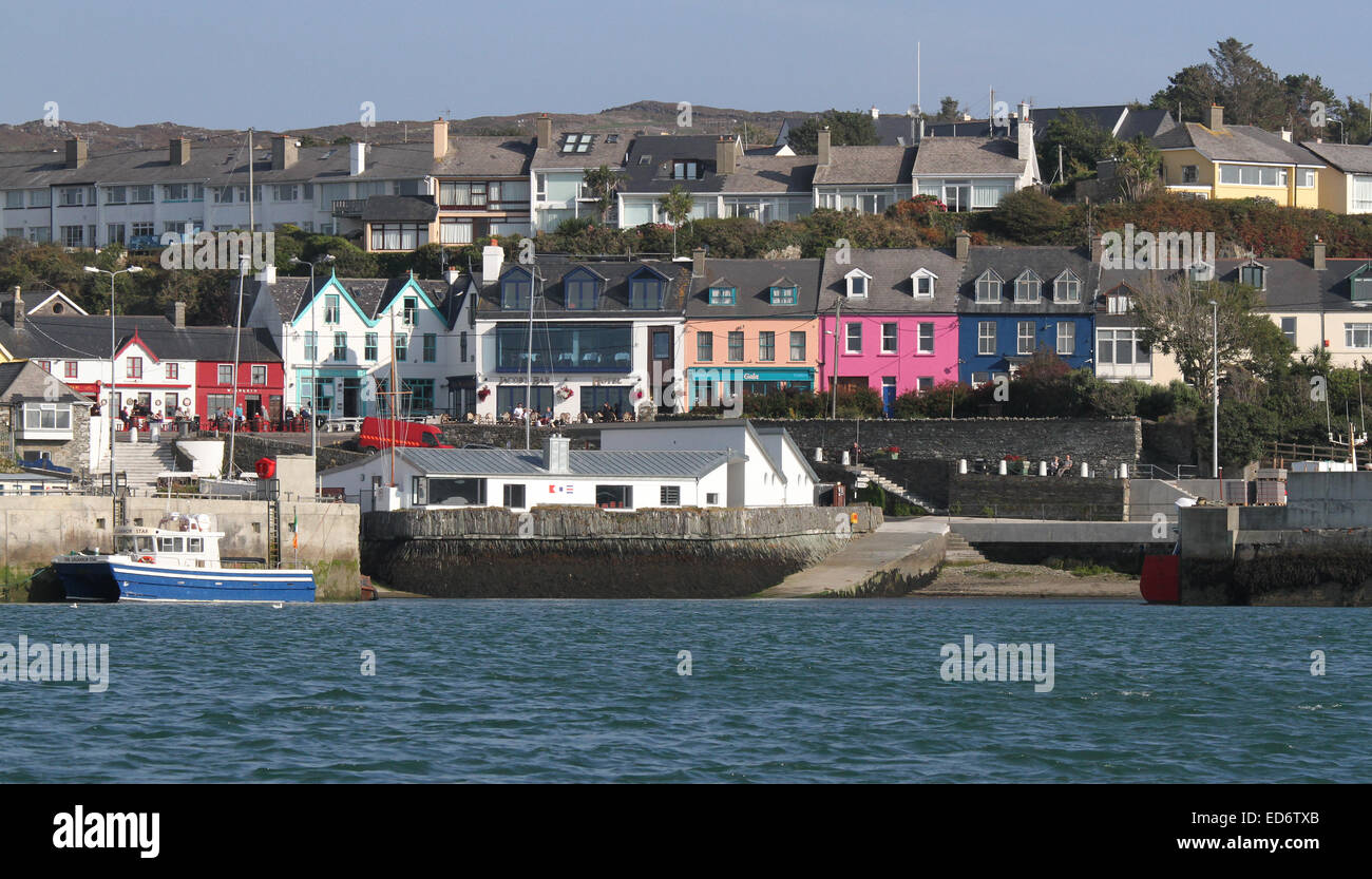 The waterfront above the harbour at Baltimore West Cork County Cork Ireland. - Stock Image