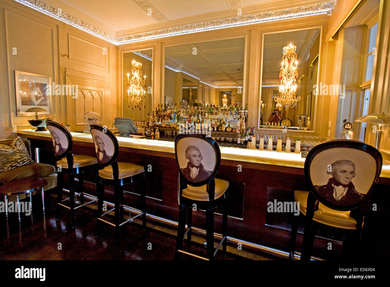 Planet Champagne Bar, Mount Nelson Hotel, Cape Town - Stock Image