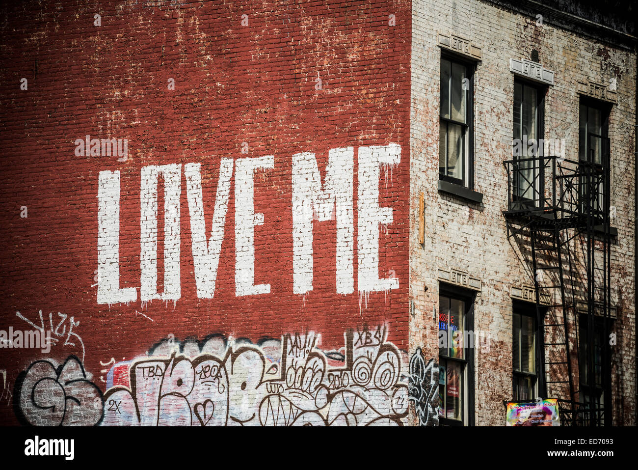 Love New York Wall Graffiti Stock Photos Love New York Wall
