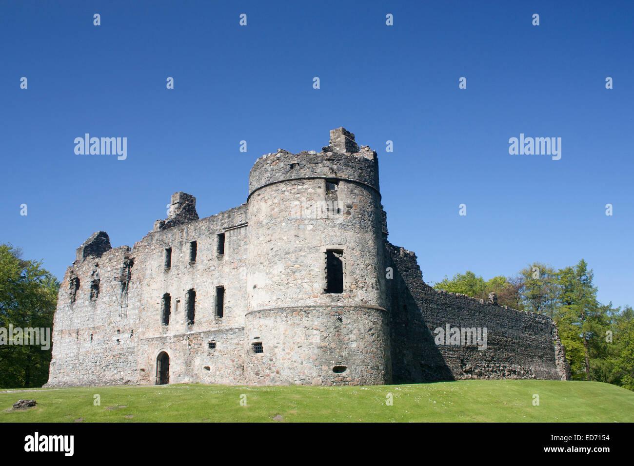 United Kingdom, Scotland, Grampian, near Dufftown, Balvenie Castle ruins - Stock Image