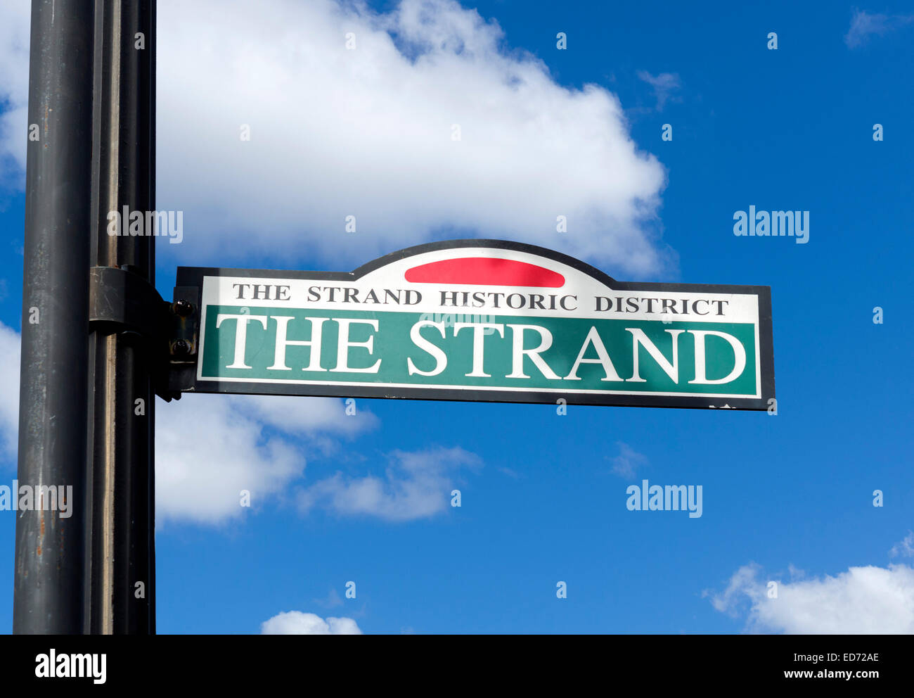 The Strand in historic old downtown Galveston, Texas, USA - Stock Image
