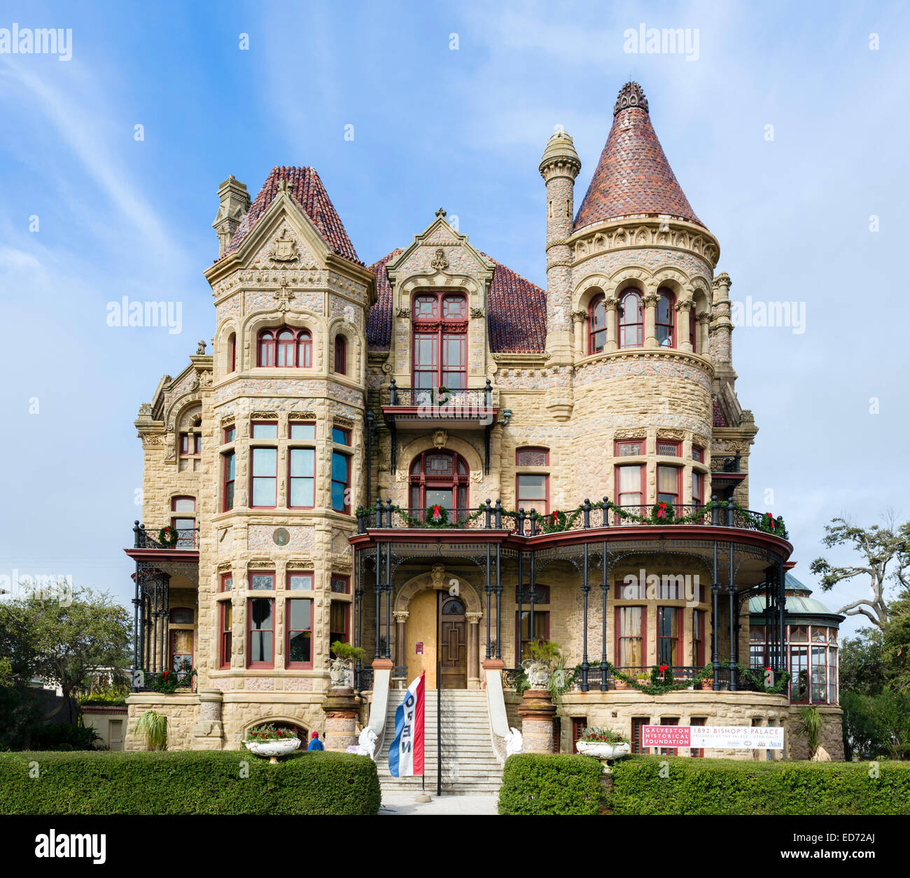 A Complete Tour Of A Victorian Style Mansion: The Bishop's Palace Or Gresham's Castle, An Old Victorian