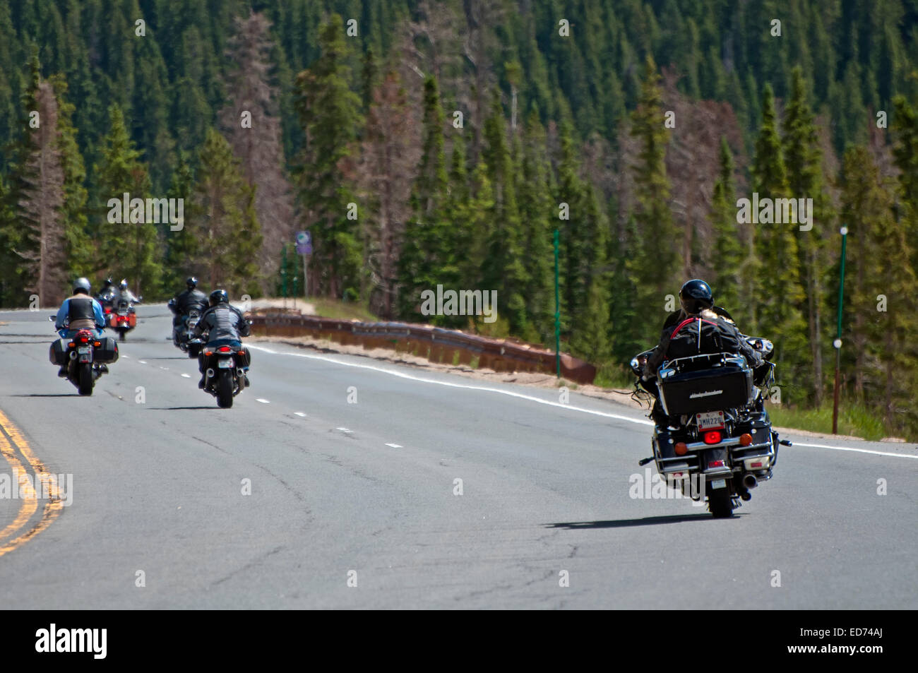 Bikers in Colorado - Stock Image