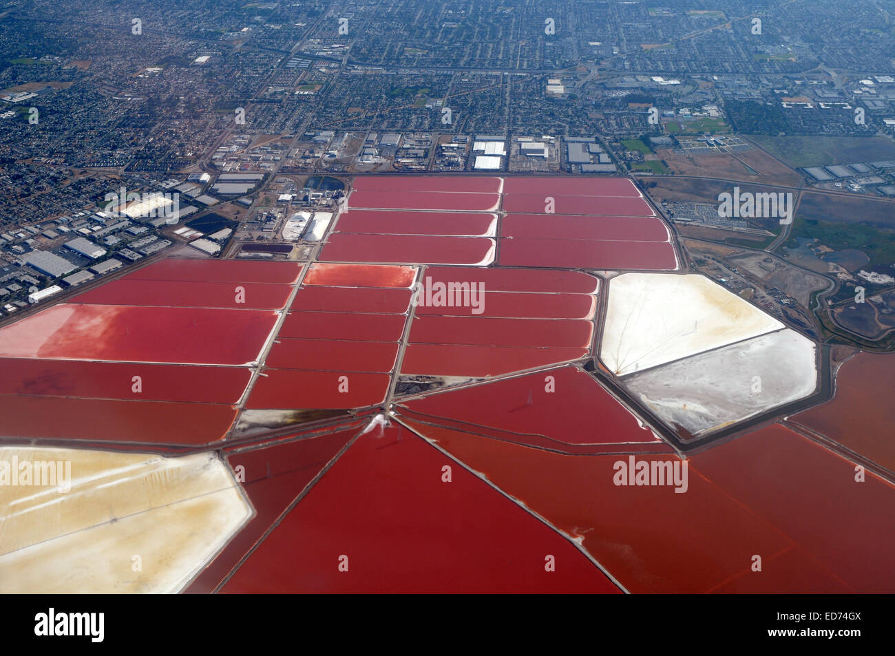 Industrial pools , Fremont near SF, California - Stock Image