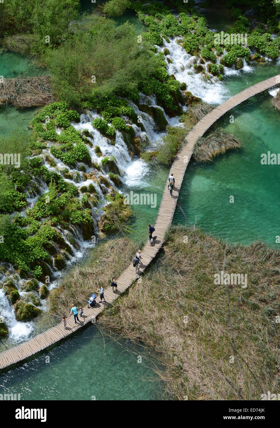 Plitvice lakes, Croatia - Stock Image