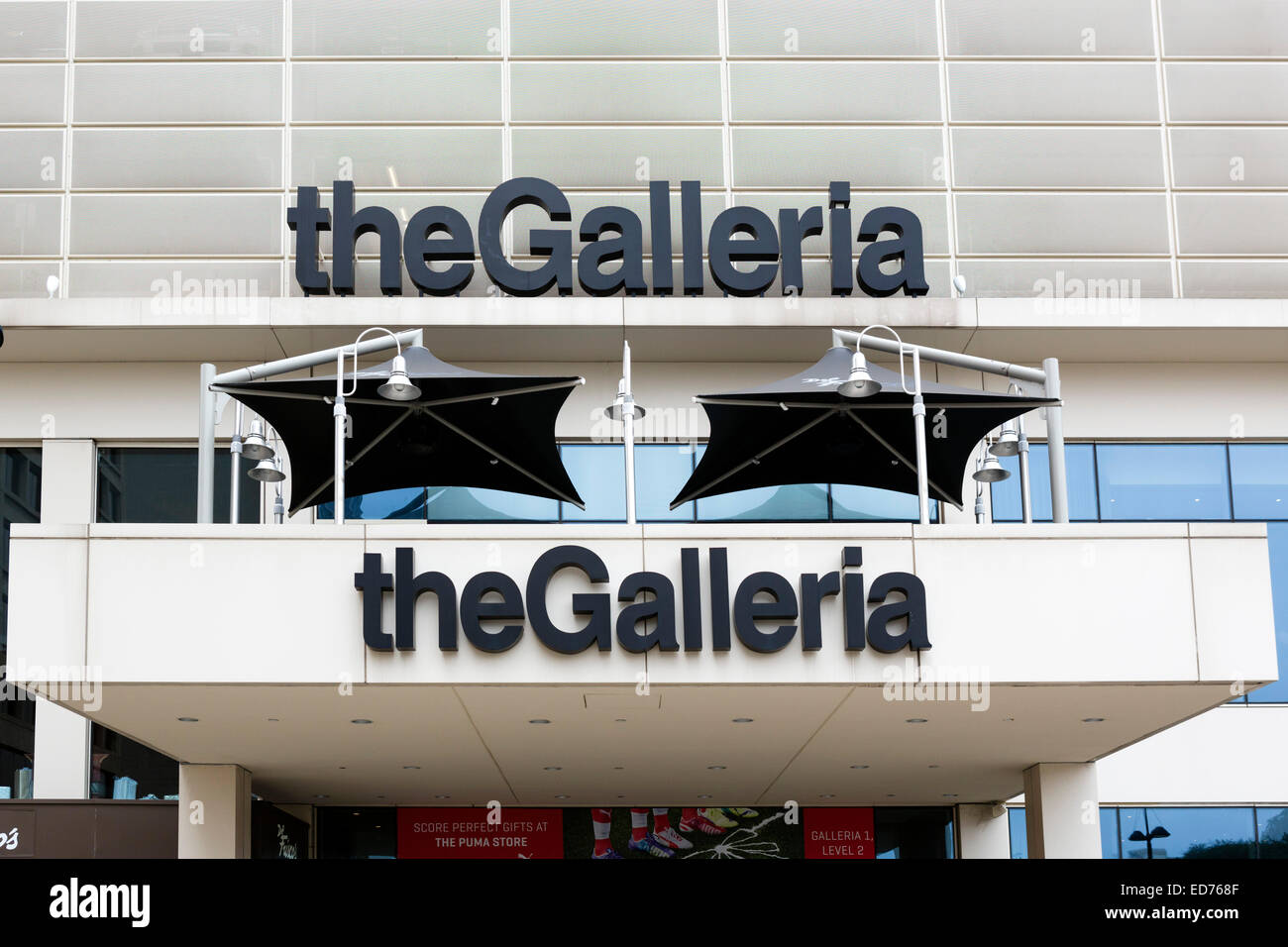 The Galleria shopping mall and office complex, Houston, Texas, USA - Stock Image