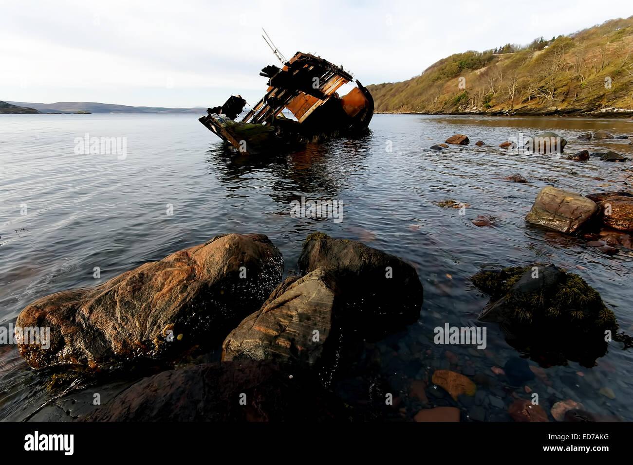 Diabaig boats Scotland