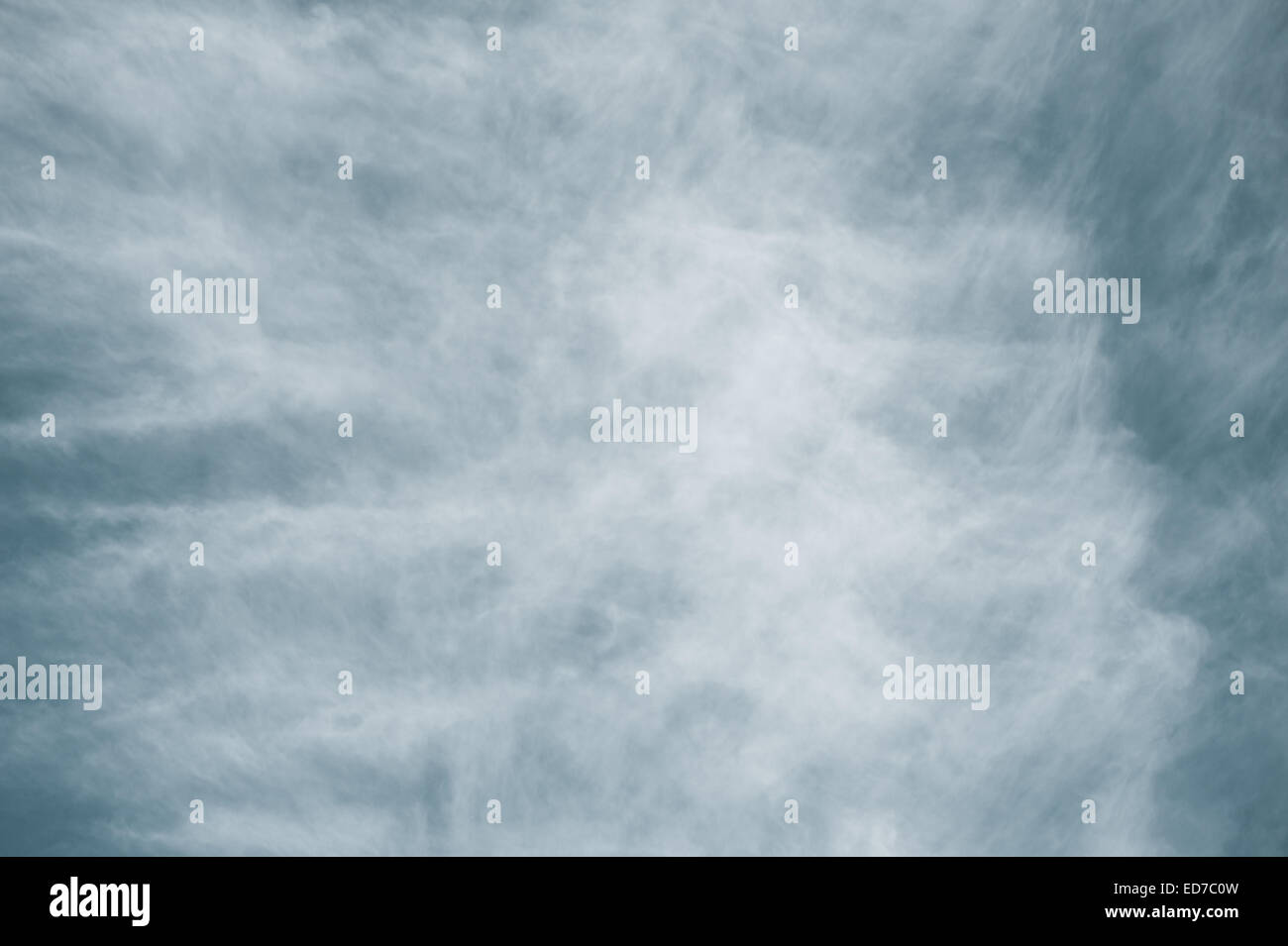 Ominous cirrus sky abstract stormy weather - Stock Image
