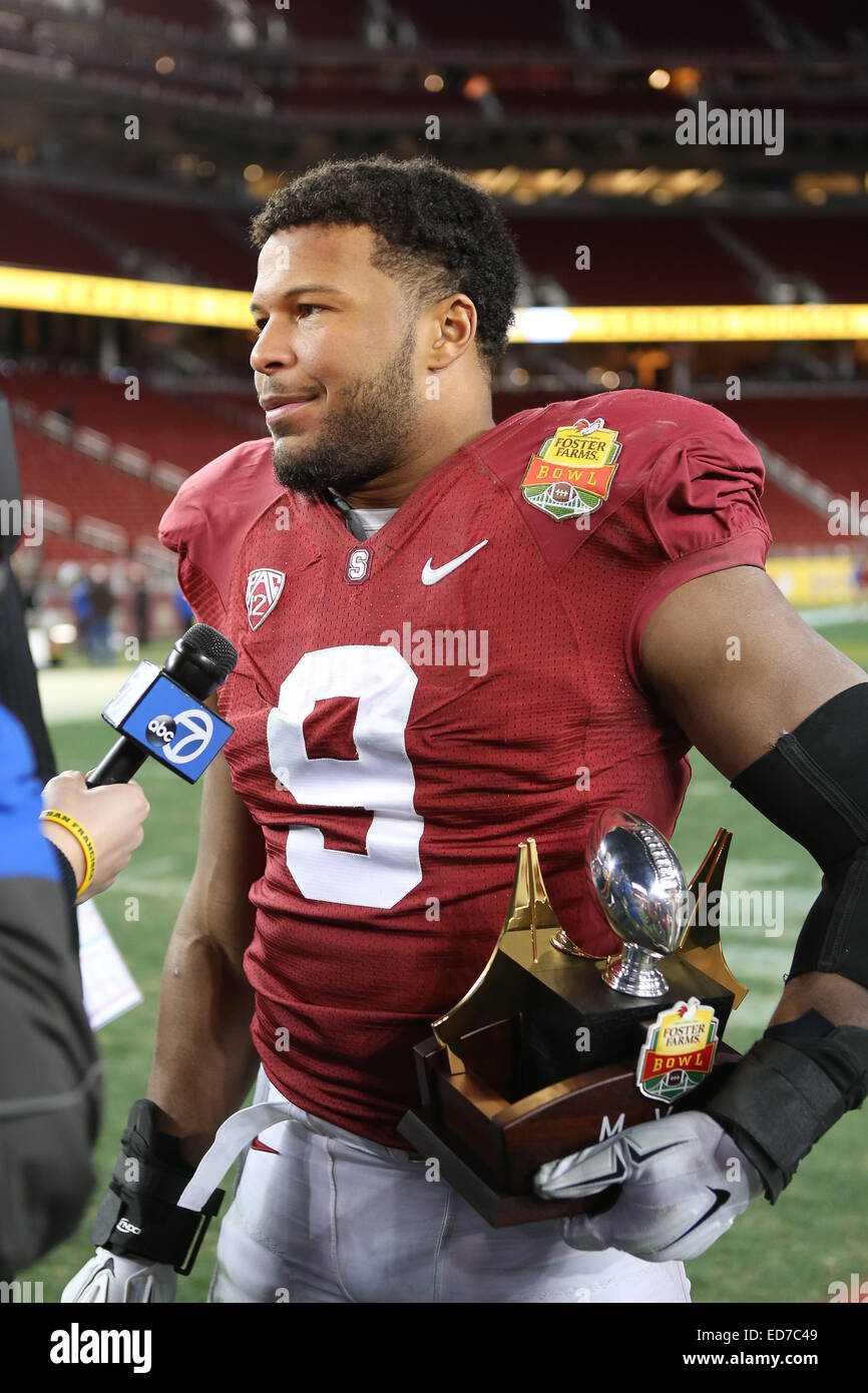 cheap for discount 6bf2f 6f967 December 30, 2014: Stanford Cardinal linebacker James ...