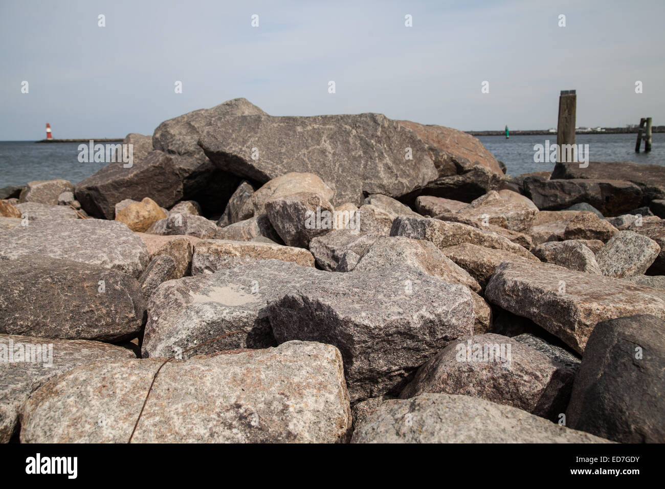stone background at the baltic sea - Stock Image