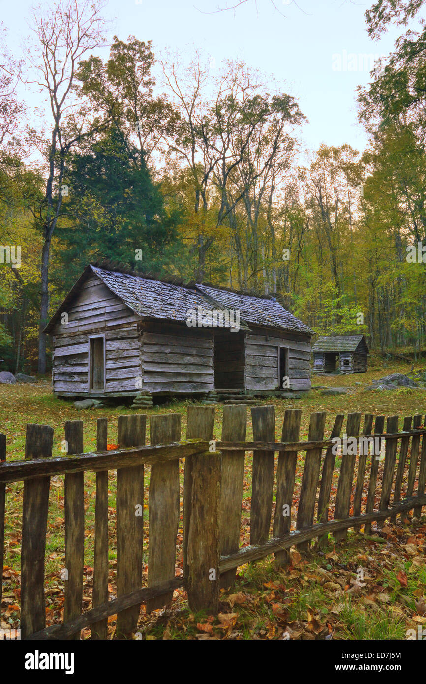 Ephraim Bales Cabin, Great Smoky Mountains National Park, Tennessee, USA - Stock Image