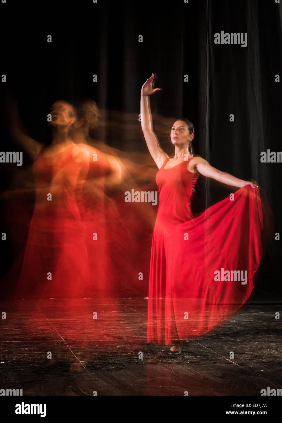Spanish flamenco dancer. - Stock Image