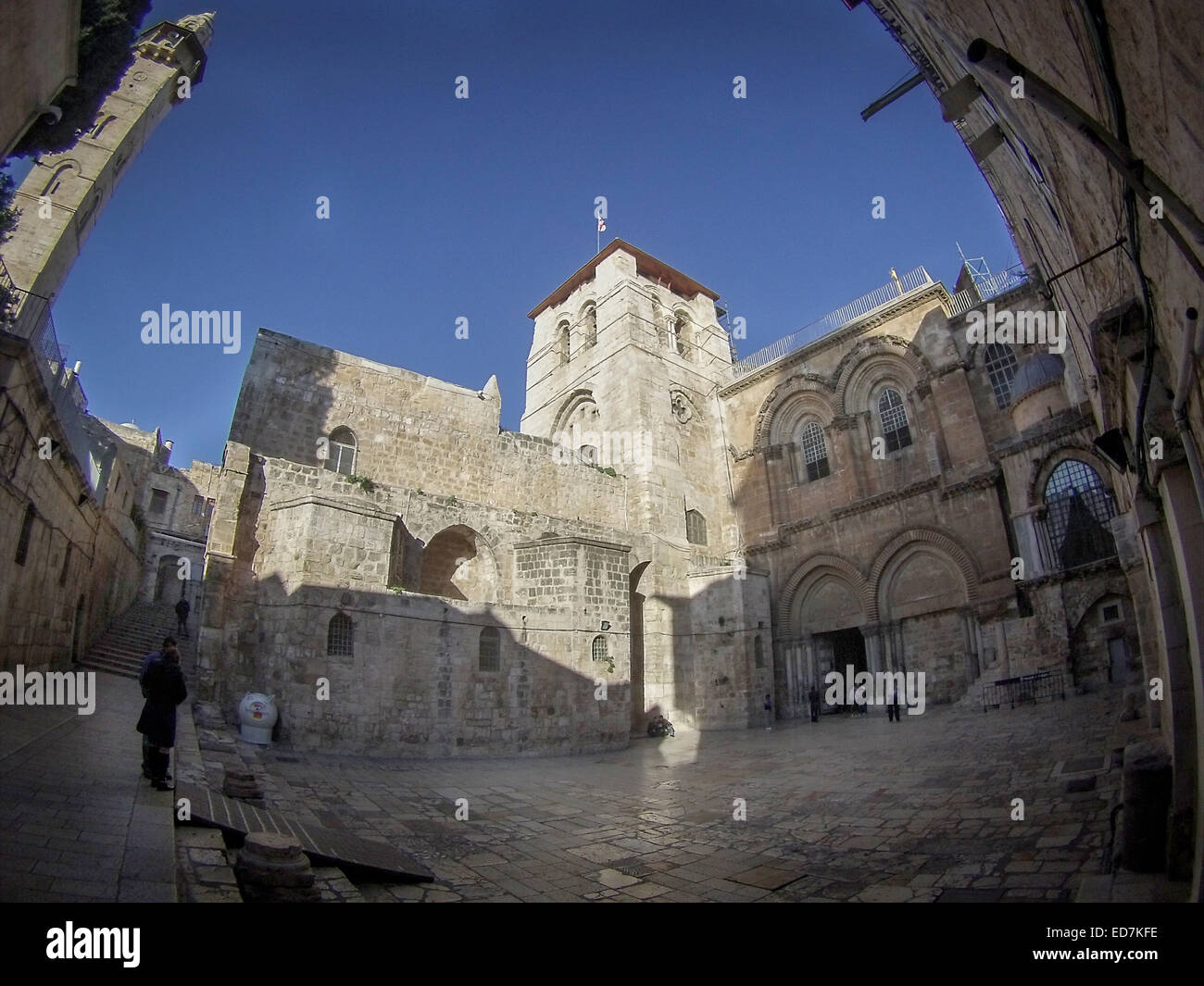 The Church of the Holy Sepulchre also called the Basilica of the Holy Sepulchre,Old City,Jerusalem. - Stock Image