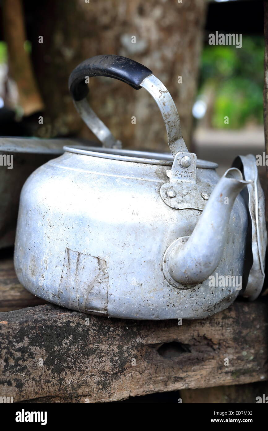 Old teapot-Epi-Vanuatu Stock Photo