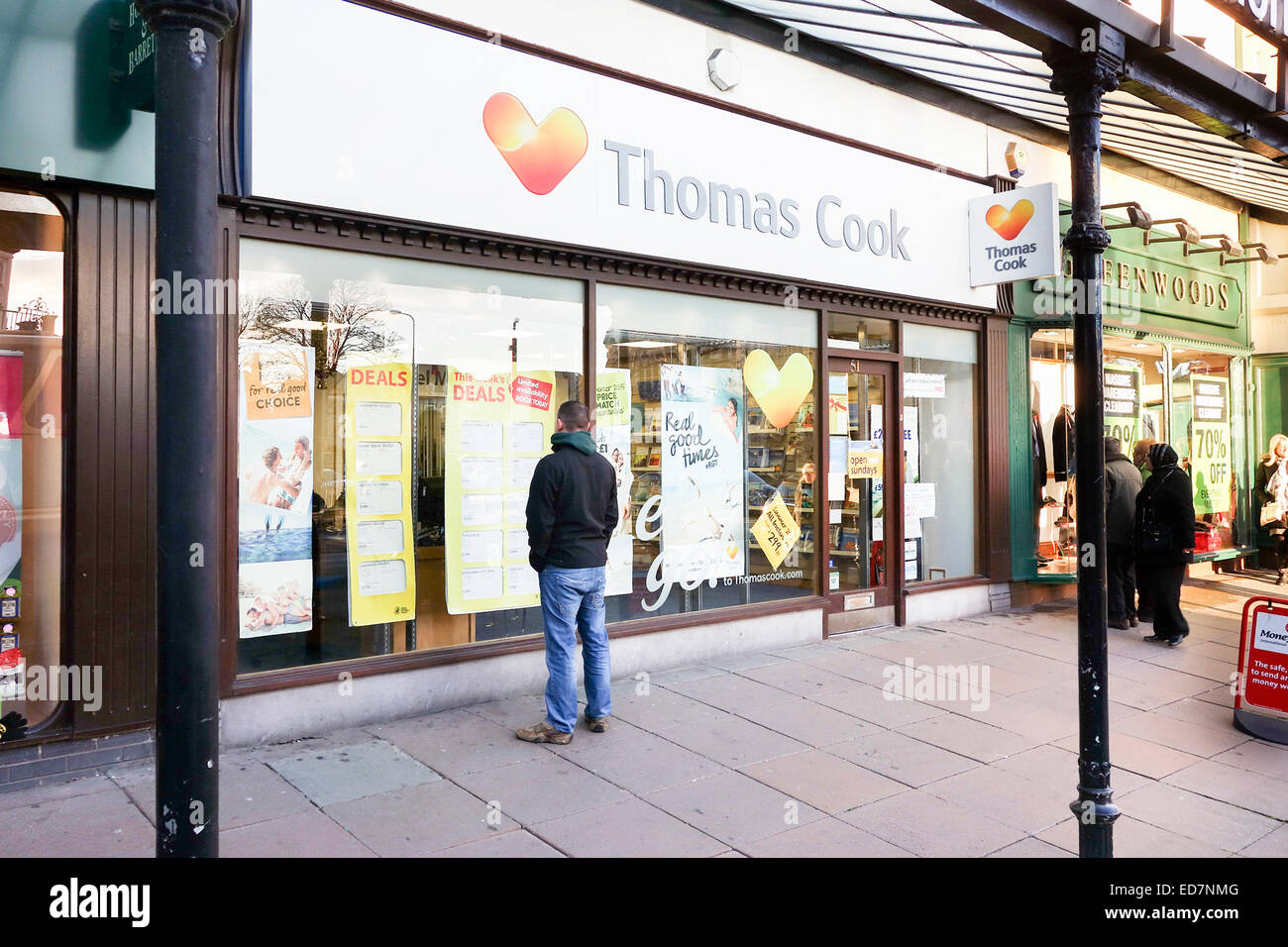 Thomas Cook travel agent on a high street - Stock Image