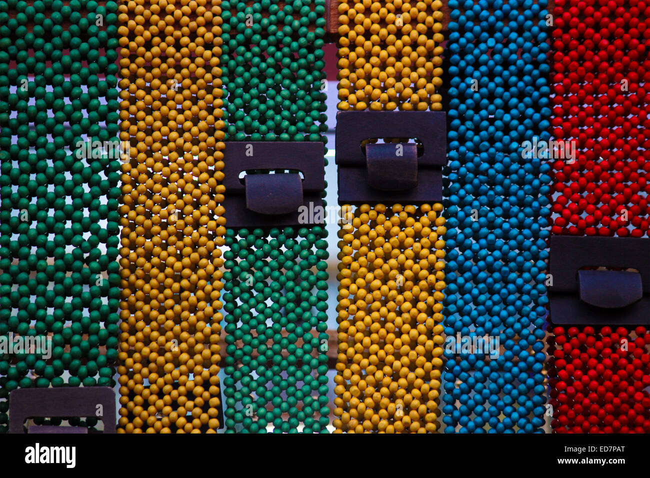 belt, Colour, Color full, Bead, Ladies, female,belts, buckle, clipping, clothing, cut, cutout, cut-out, dropout, - Stock Image