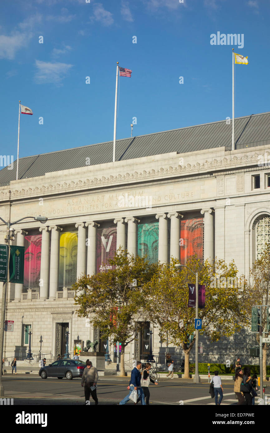 Asian Art museum of San Francisco CA - Stock Image