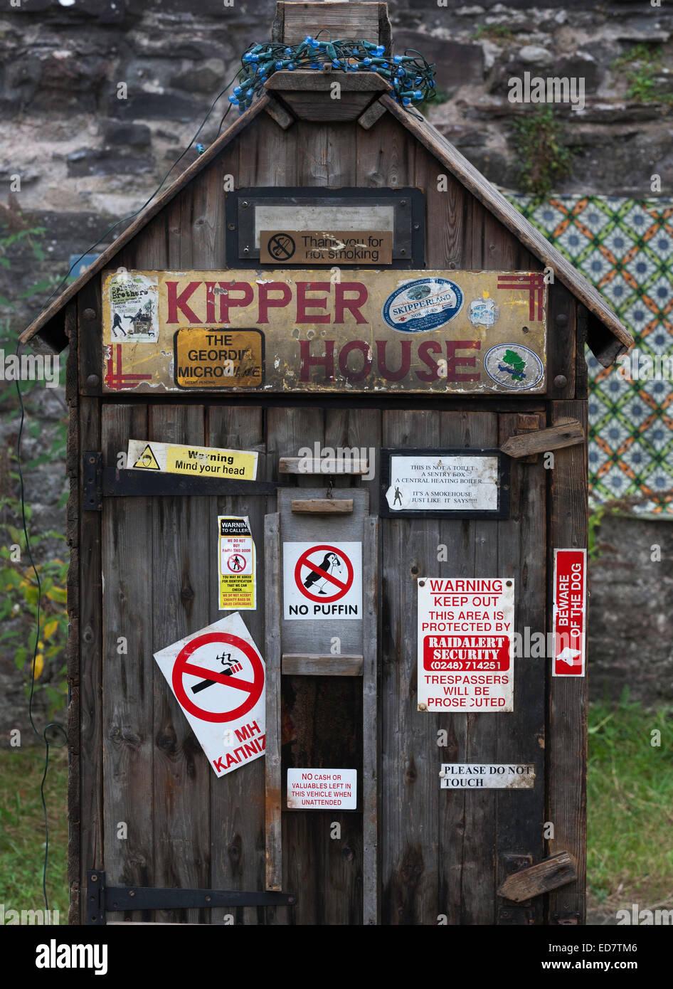 Kipper House smokery Abergavenny Food Festival - Stock Image