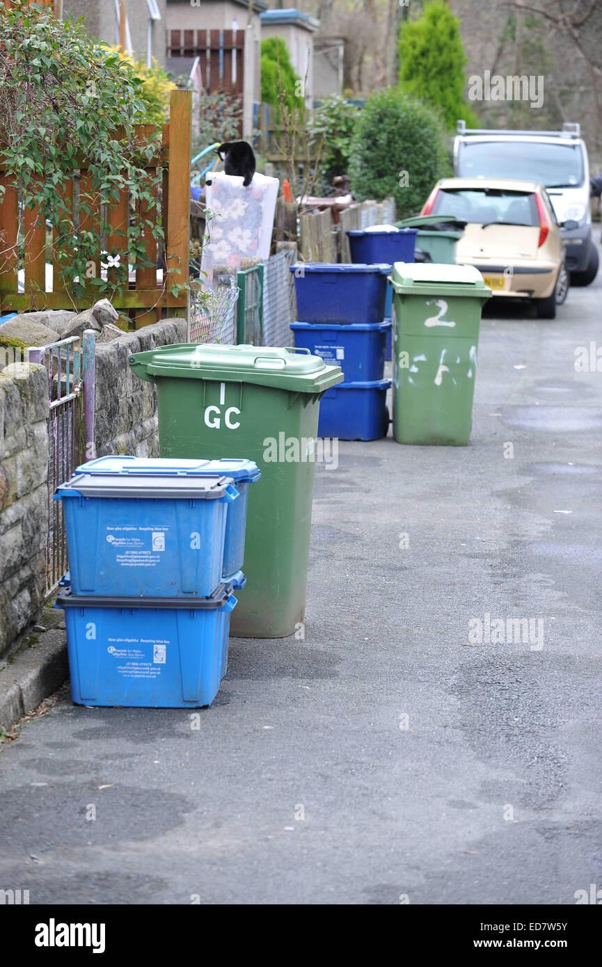 Waste Trash Recycling Uk Wales Gb Stock Photos & Waste Trash ...
