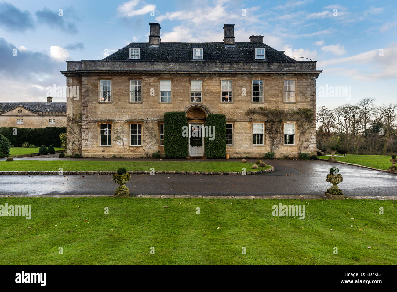 Babington House is a private members club in Somerset owned by Nick Jones, founder of Soho House. - Stock Image