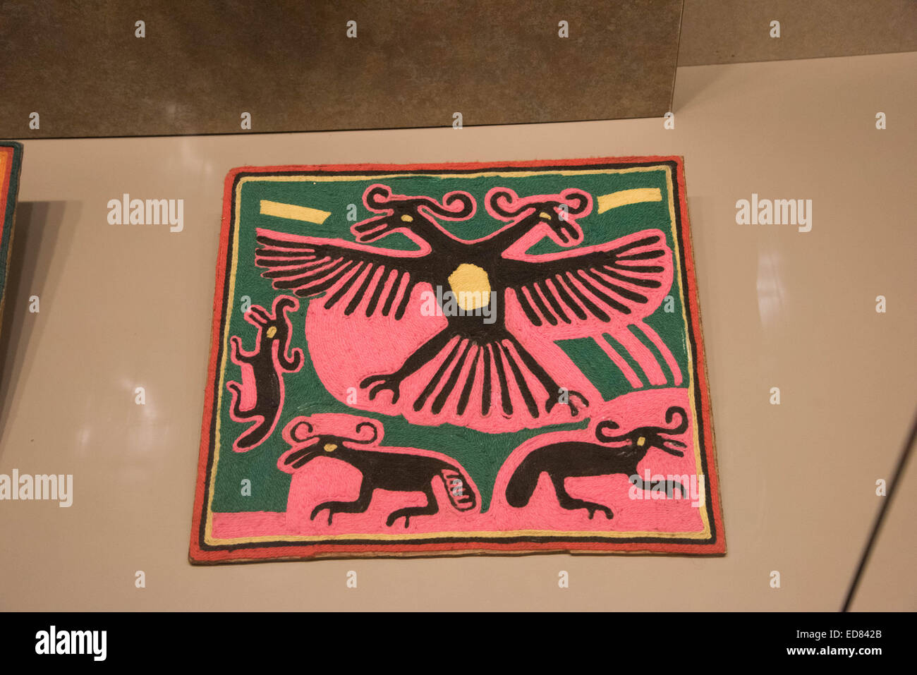 The National Museum of Anthropology,Mexico city,Mexico Ethnography room of Oaxaca - Stock Image