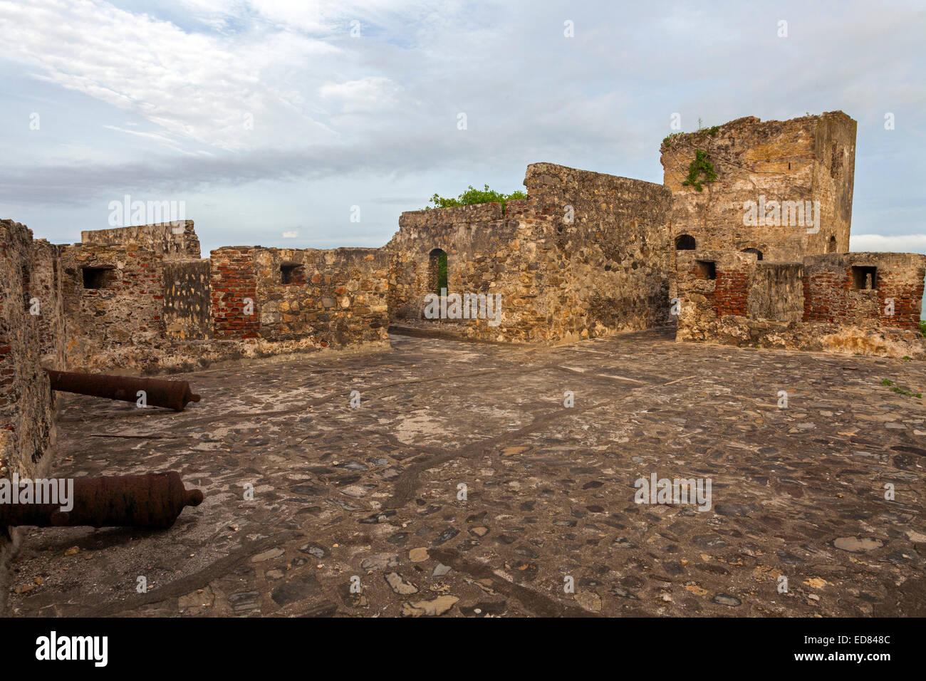 Fort Amsterdam, Abandze, Ghana, Africa - Stock Image