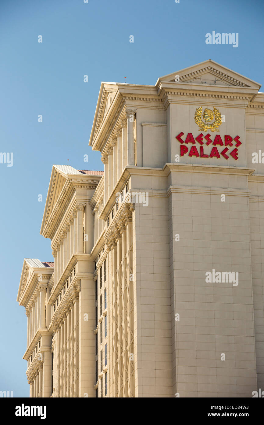 Caesars Palace in Las Vegas, Nevada, USA, probably the most unsustainable city in the world, it uses vast quantities Stock Photo