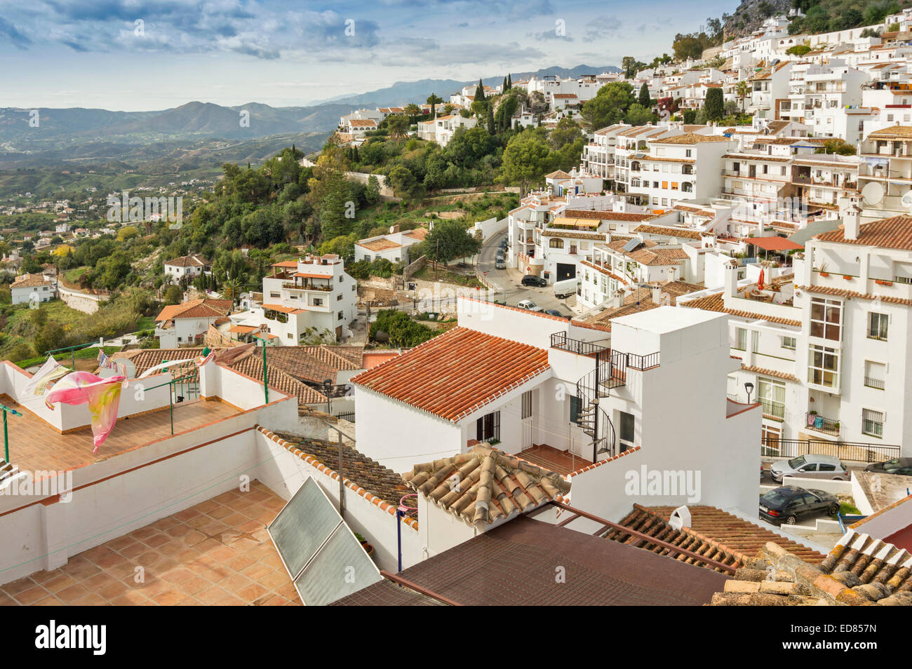 mijas pueblo andalucia spain white houses on the hillside