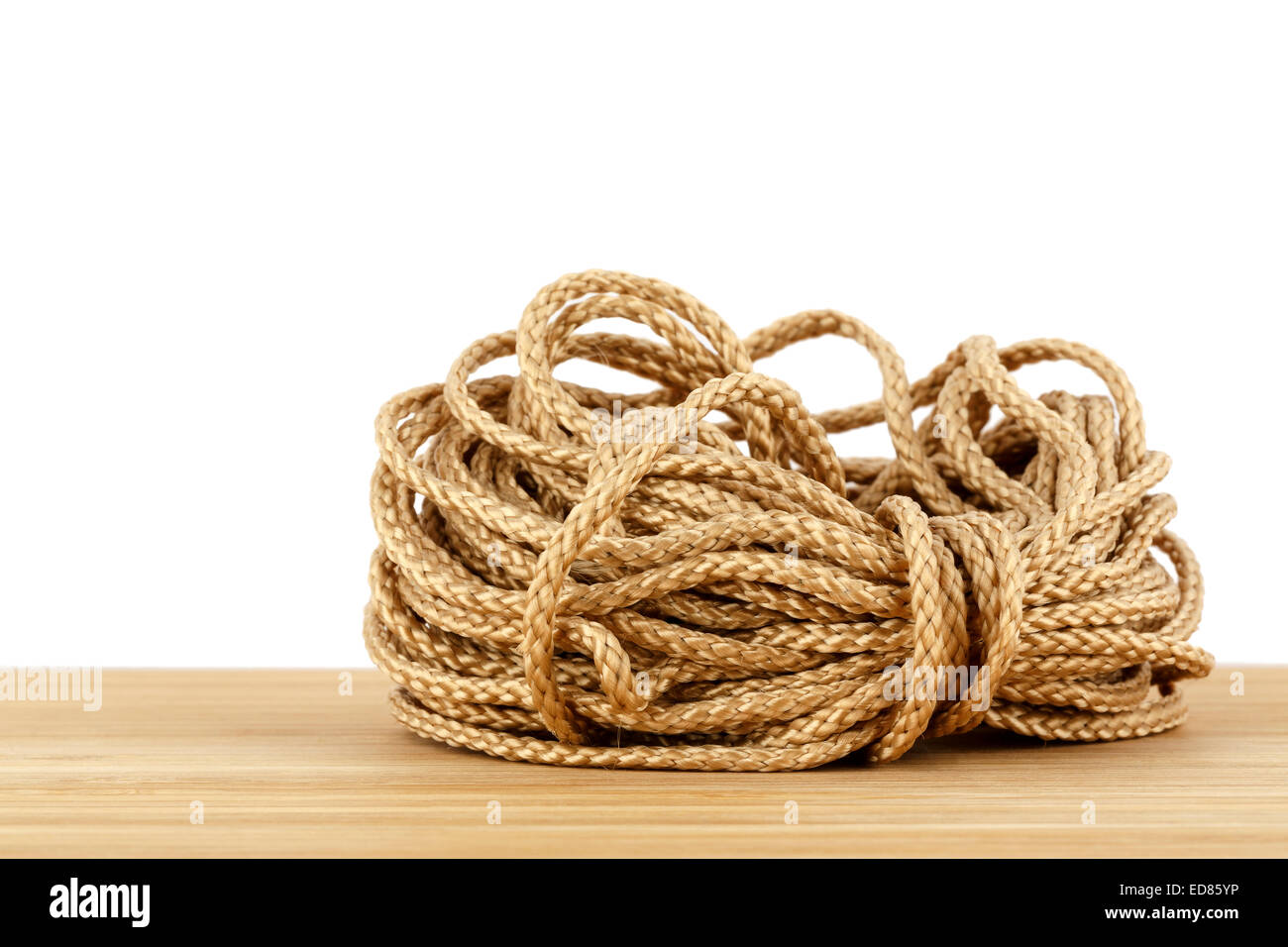 Skein of synthetic rope - Stock Image