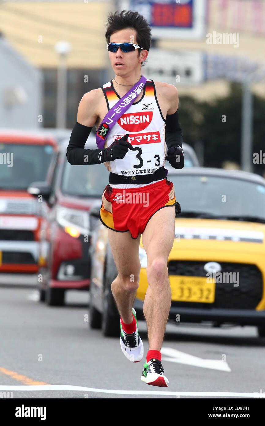 Gunma, Japan. 1st Jan, 2015. Yuki Sato (Nisshin), JANUARY 1, 2015 - Ekiden : New Year Ekiden 2015 59th All Japan - Stock Image